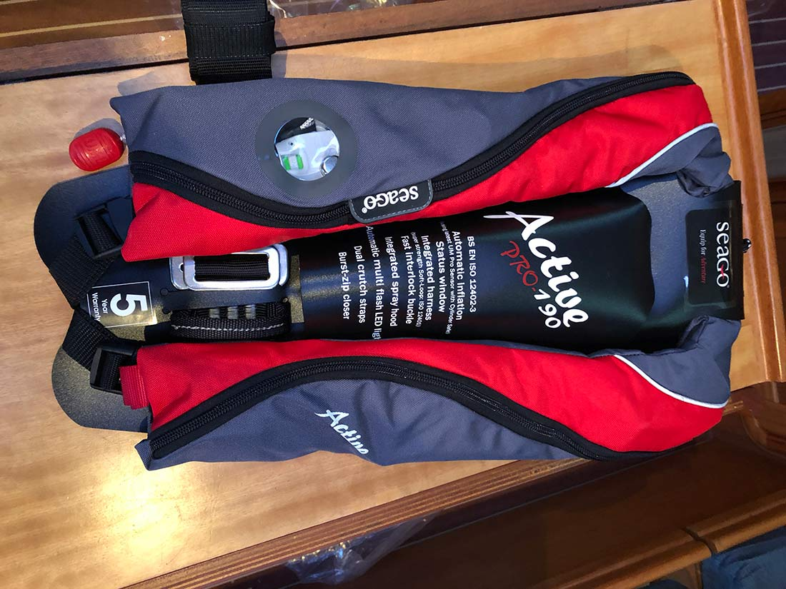 Spread Eagle Sailing Club - New Lifejackets Onboard